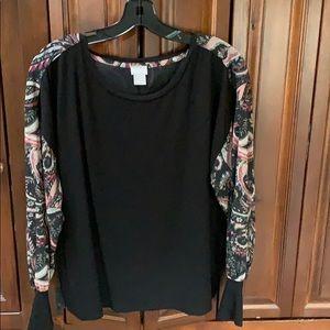 CHICOS Ladies Pullover Top Size 2